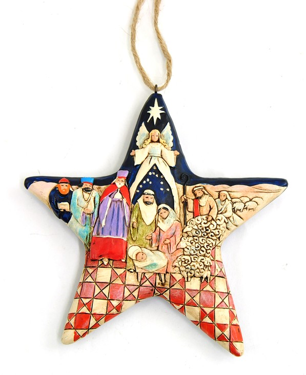 Heartwood Creek Nativity Star Ornament