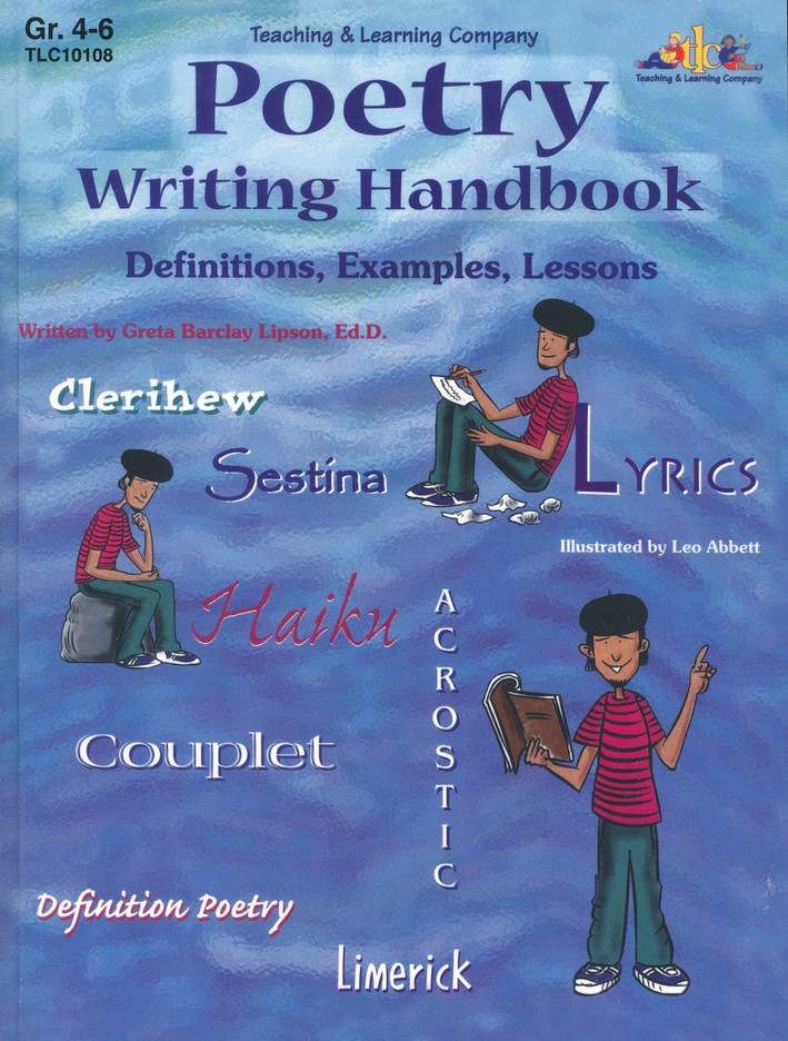Poetry Writing Handbook: Definitions, Examples, Lessons,  Grades 4-6