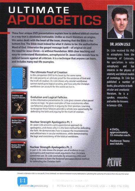 Ultimate Apologetics 4 DVD Boxed Set