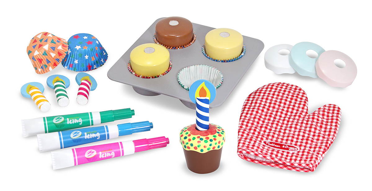 Bake and Decorate Cupcake Play Food Set