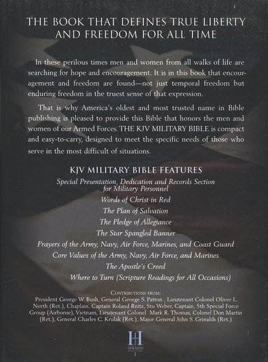KJV Military Bible, Military Green Simulated Leather Large-Print Compact