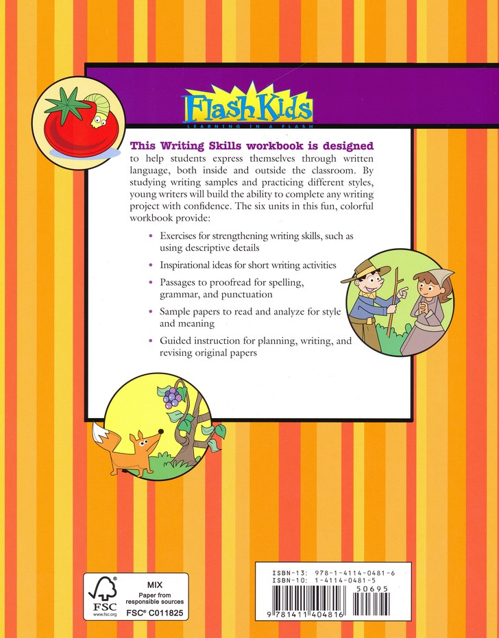 Writing Skills Flash Kids Workbook, Grade 3