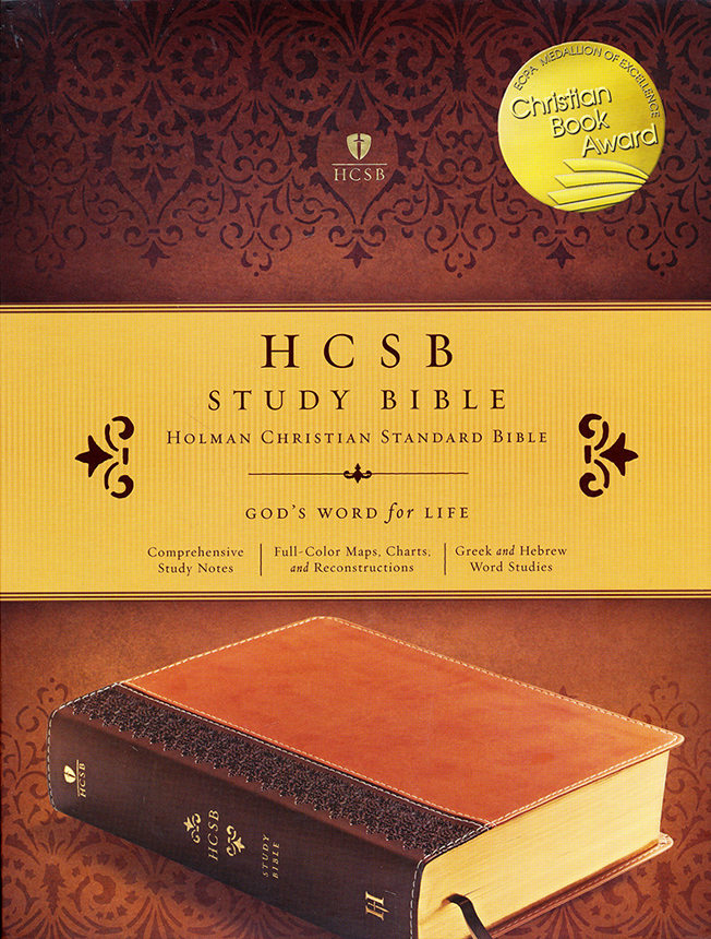HCSB Study Bible, Brown & Tan Simulated Leather