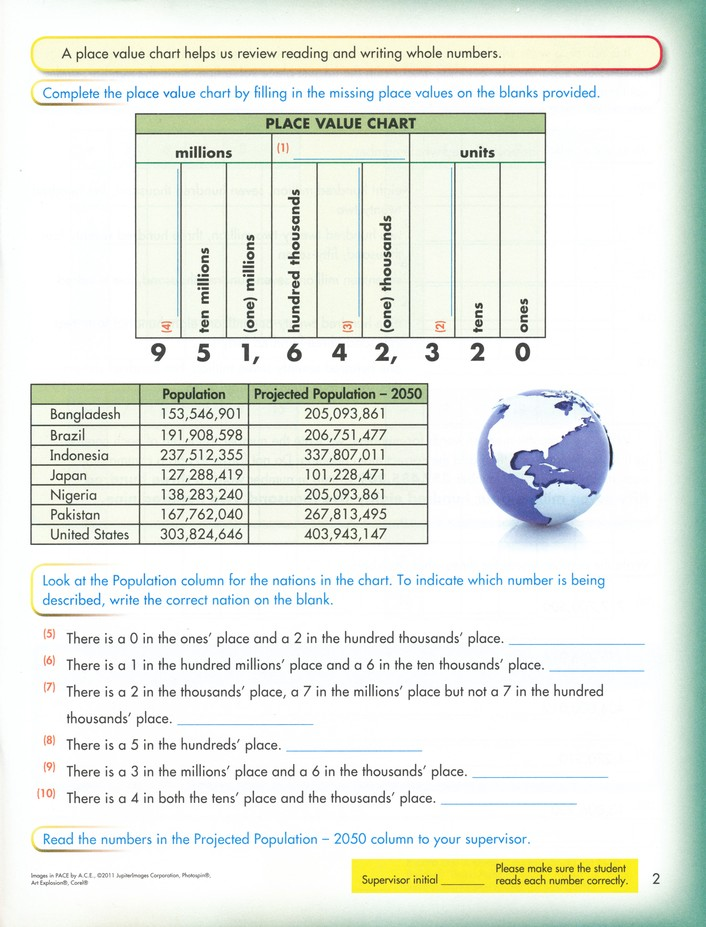 Grade 7 Math PACEs 1073-1084 (4th Edition)