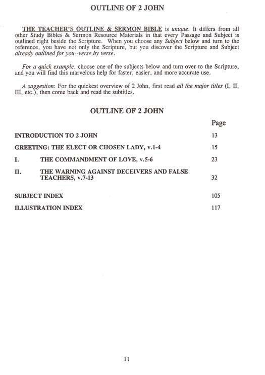 Teacher's Outline & Study Bible KJV: II & III John & Jude