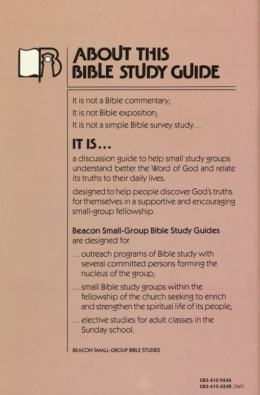 Beacon Small-Group Bible Studies-Ecclesiastes:          or Futility?