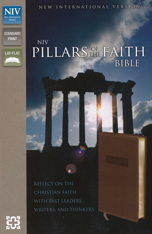 NIV Pillars of the Faith, Italian Duo-Tone, Caramel