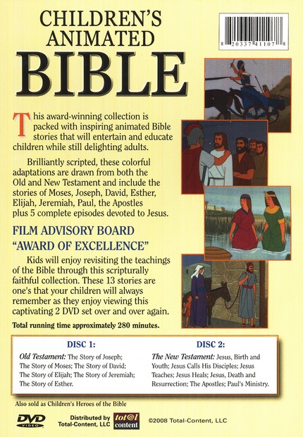 Children's Animated Bible: Old & New Testament, 2-DVD Collection