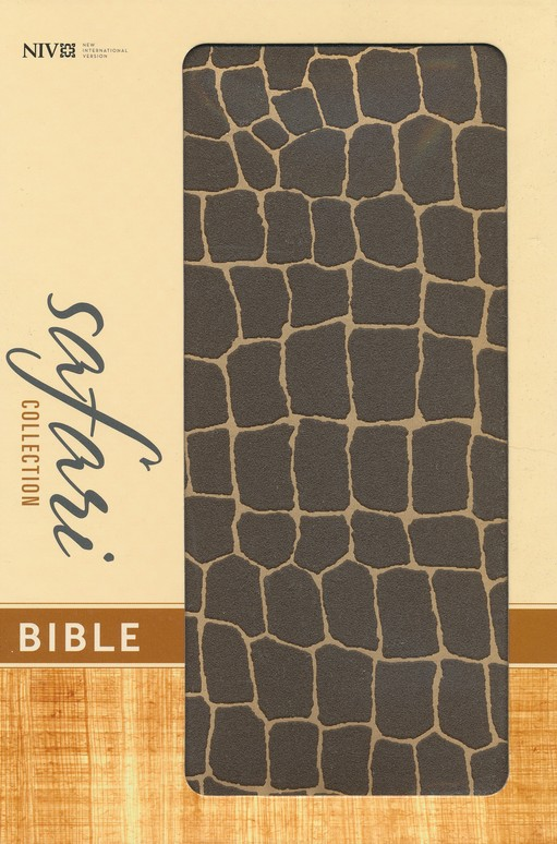 NIV Safari Collection Bible, Flexcover, Bonded Leather, Giraffe