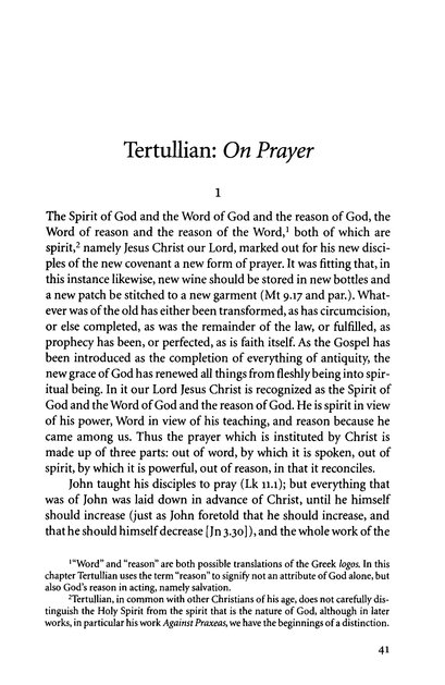 On the Lord's Prayer (Popular Patristics)