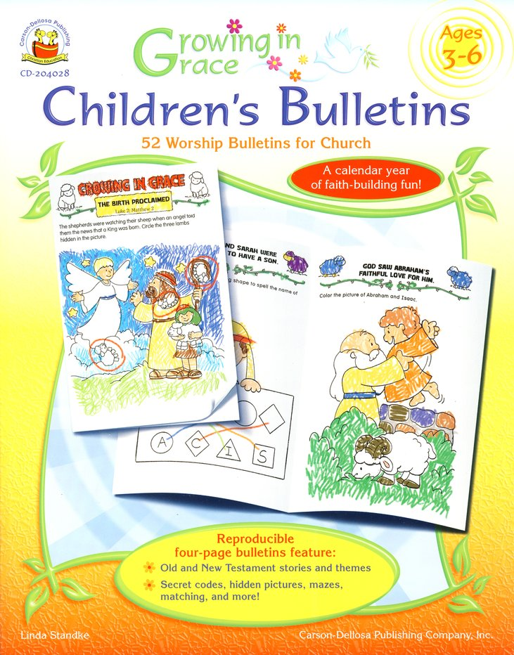 Growing in Grace Children's Bulletins Ages 3-6