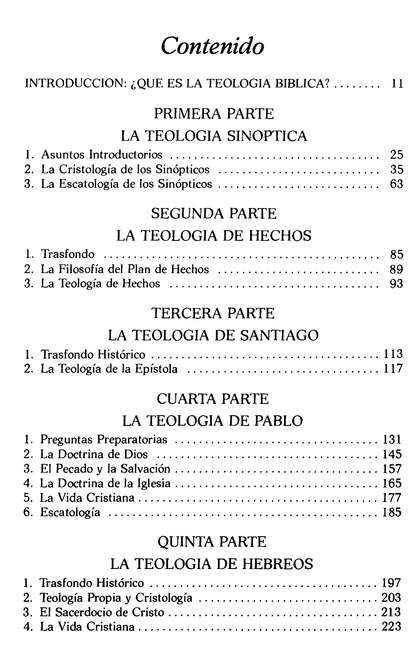 Teologia Biblica del Nuevo Testamento  (Biblical Theology of the New Testament)