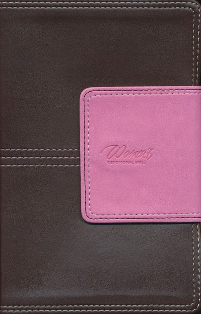 NIV Women's Devotional Bible, Compact, Italian Duo-Tone, Chocolate/Orchid