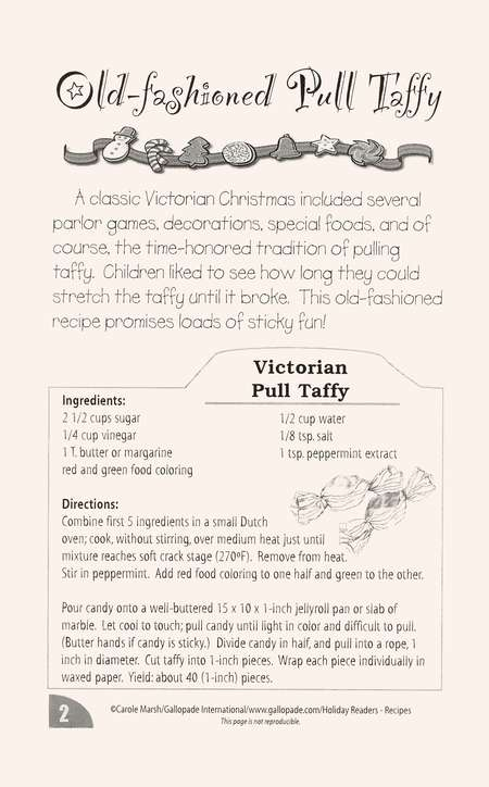 Christmas Recipes, Grades 2-5