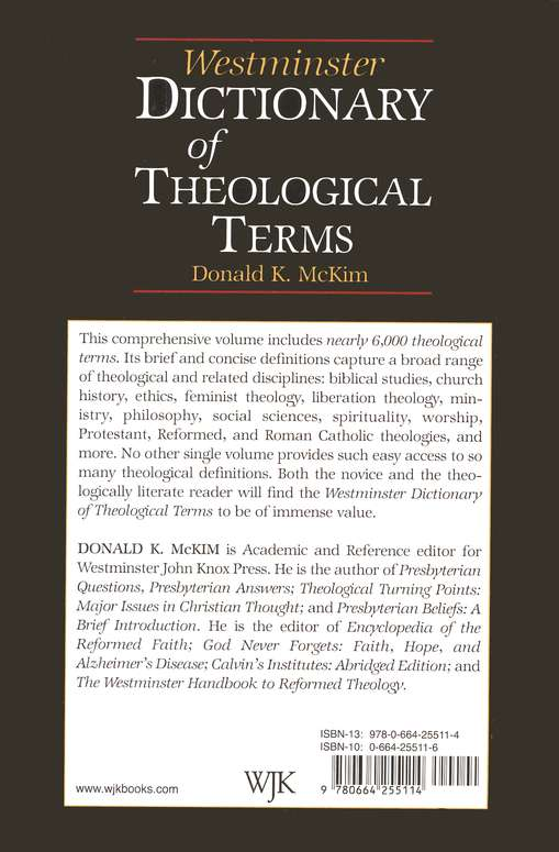 Westminster Dictionary of Theological  Terms