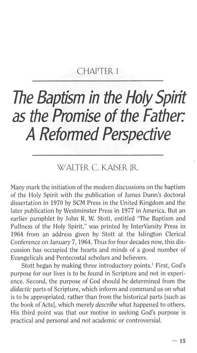 Perspectives on Spirit Baptism: Five Views