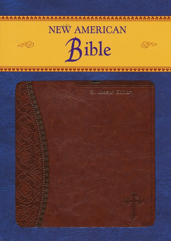St. Joseph, New American Bible, Brown, Imitation Leather, Medium, Gift Edition
