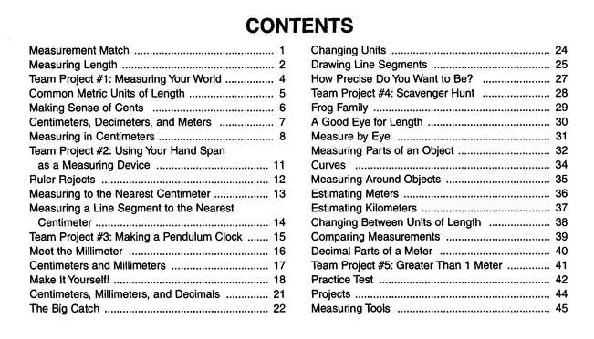Key To Measurement Books 1-4