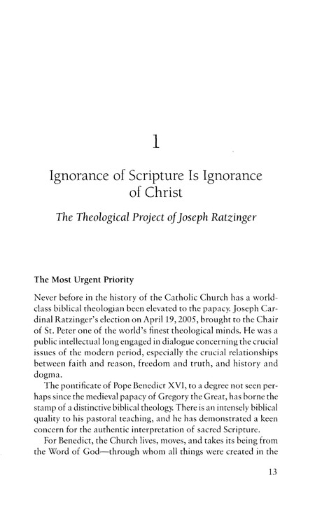 Covenant and Communion: The Biblical Theology of Benedict XVI