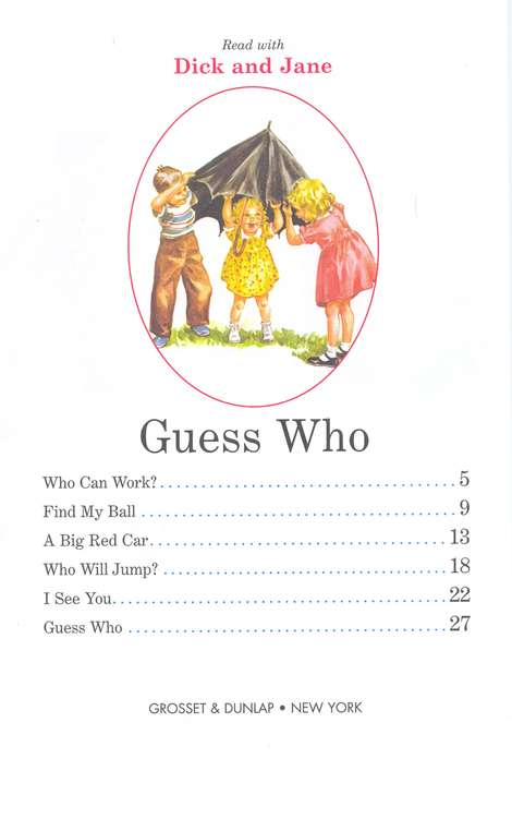 Read with Dick and Jane, Guess Who, Volume 4, Updated Cover