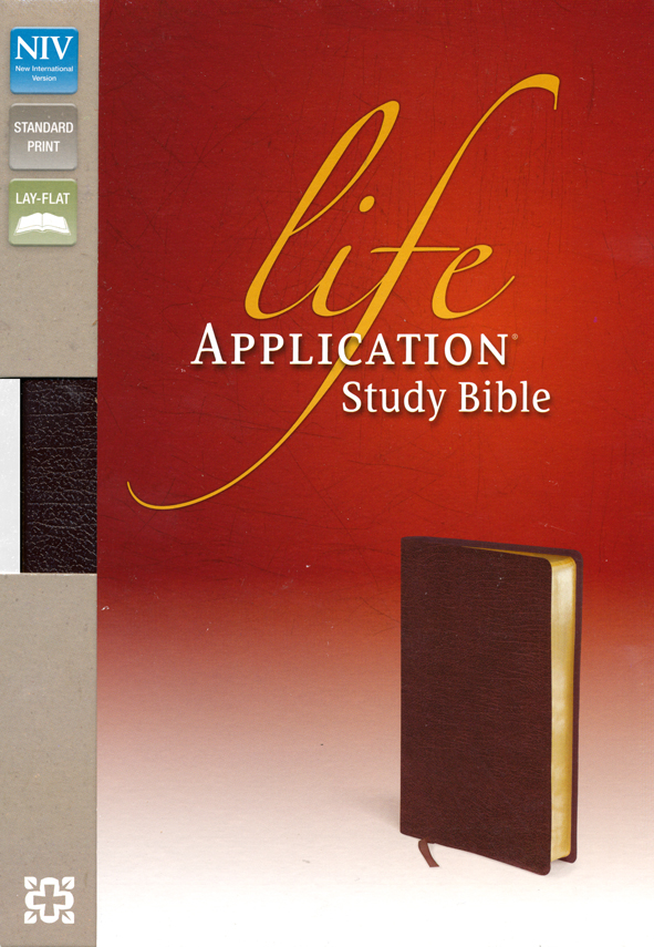 NIV Life Application Study Bible, Bonded Leather, Burgundy