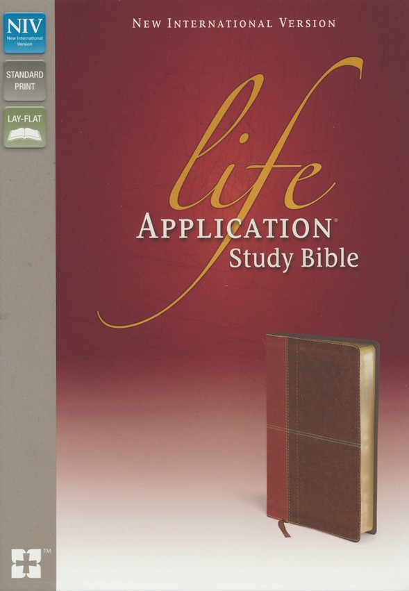 NIV Life Application Study Bible, Imitation Leather, Carmel Dark Carmel