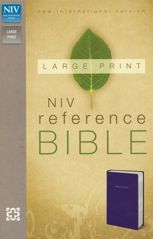 NIV Largeprint, Reference Bible, Navy