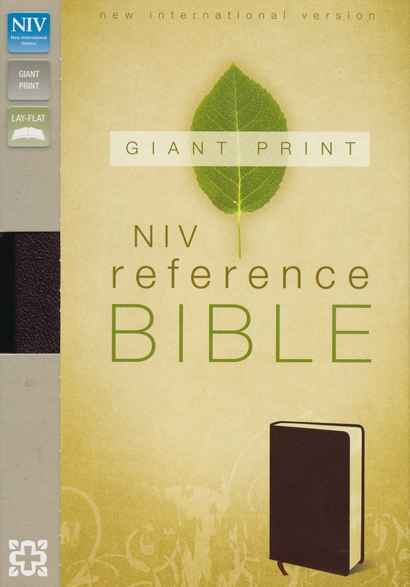 NIV Reference Bible, Giant Print, Burgundy
