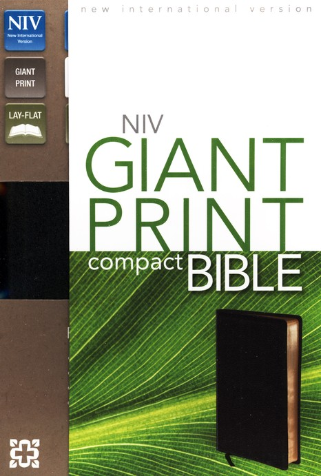 NIV Compact Bible, Giant Print, Bonded leather, black