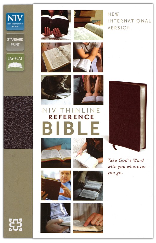 NIV Thinline Reference Bible, Burgundy