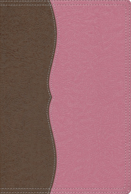 NIV Largeprint, Reference Bible Chocolate/Berry Creme