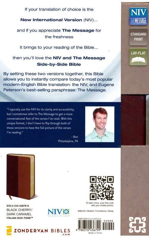 NIV and The Message Side-by-Side Bible, Personal Size