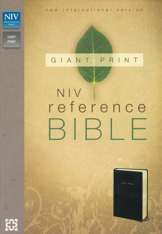 NIV Reference Bible, Giant Print, Black