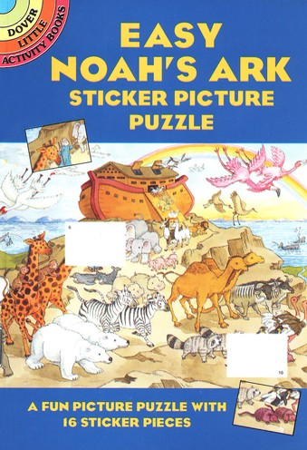 Easy Noah's Ark Sticker Picture Puzzle
