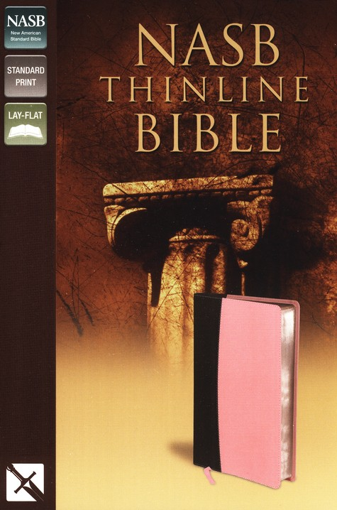 NASB Thinline Bible, Italian Duo-Tone, Pink/Chocolate