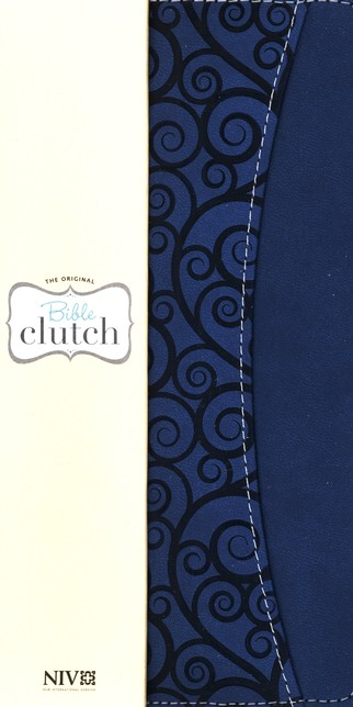 NIV Clutch Bible Blueberry Leather-look