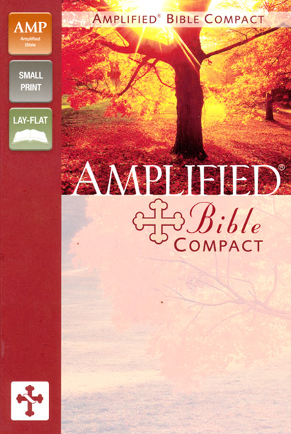 Amplified Bible Compact, Italian Duo-Tone, Camel/Burgundy