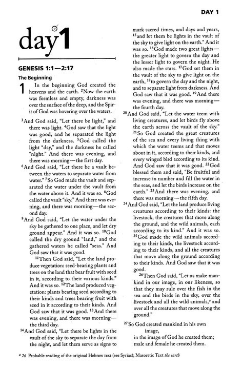 NIV Once-A-Day Morning & Evening Bible