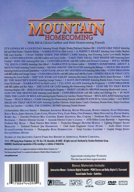 Mountain Homecoming DVD