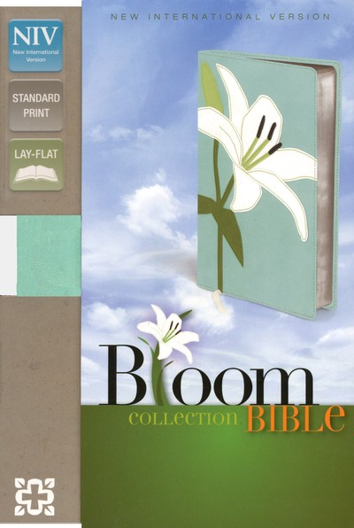 NIV Thinline Bloom Collection Bible, Italian Duo-Tone, White Lily