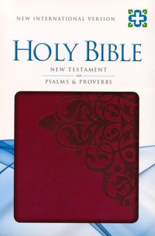 NIV New Testament with Psalms and Proverbs, Italian Duo-Tone, Cranberry