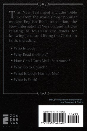NIV, Essentials of the Christian Faith New Testament: Knowing Jesus and Living the Christian Faith, Paper