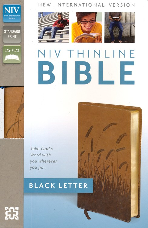 NIV Thinline Bible, Italian Duo-Tone, Toffee
