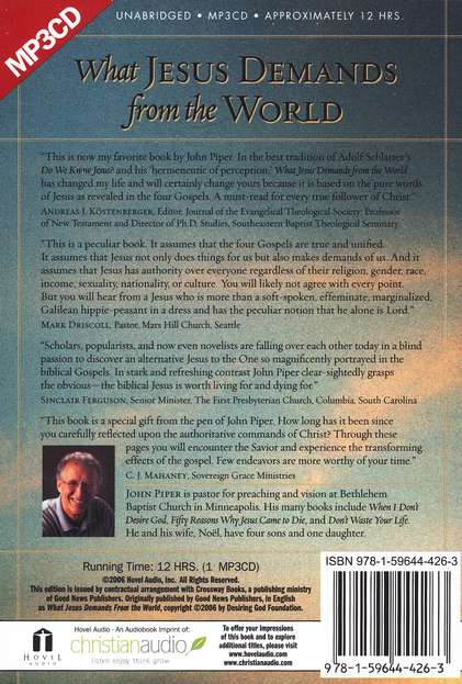 What Jesus Demands from the World, Unabridged MP3-CD