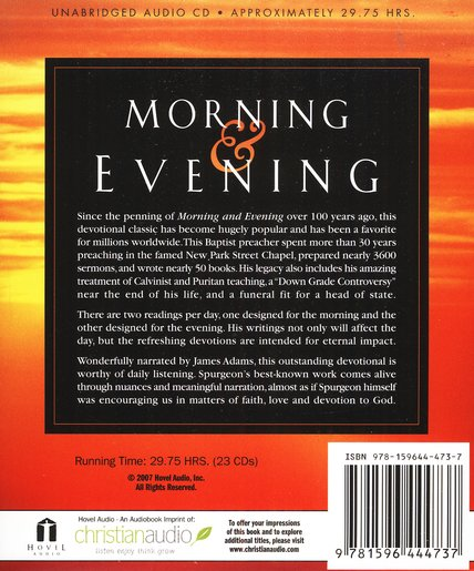 Morning and Evening Audiobook on CD