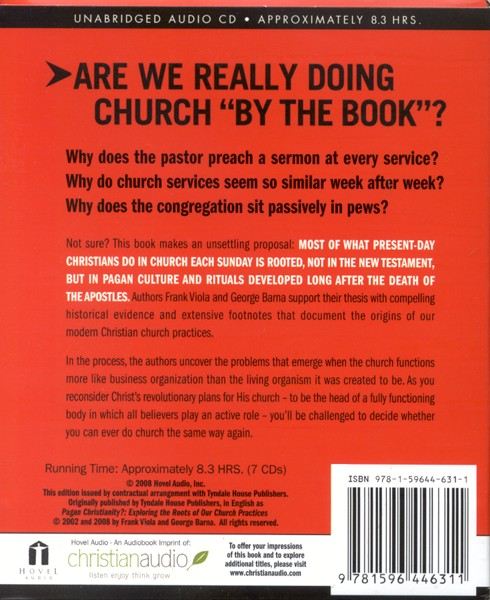 Pagan Christianity - Unabridged Audiobook on CD