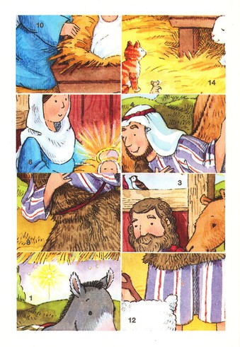 Easy Nativity Scenes Sticker Puzzles