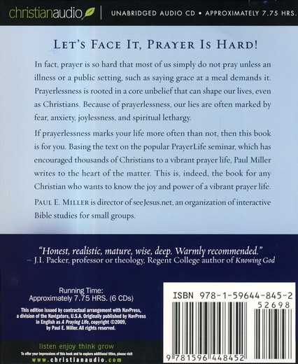 A Praying Life - Unabridged Audiobook on CD