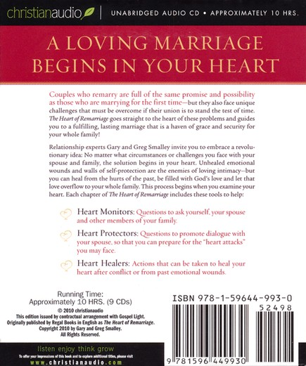 Heart of Remarriage Unabridged Audiobook on CD