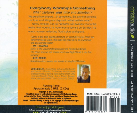 The Air I Breathe: Worship as a Way of Life Unabridged Audiobook on CD